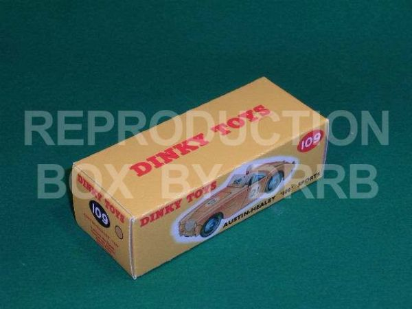 Dinky #109 Austin Healey 100 Sports - Reproduction Box